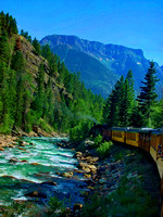 #25 - River - Durango Silverton CO, Train- b